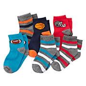 Okie Dokie® Sport Low-Cut Socks - Boys 2-6