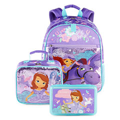 Disney Collection Sofia the First Backpack, Lunchbox or Pencil Box
