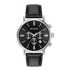 Bulova Mens Black Strap Watch-96b262