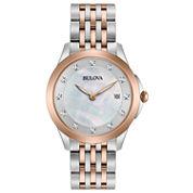Bulova Womens Two Tone Bracelet Watch-98p162