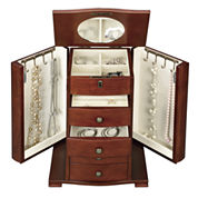 Monet Jewelry Walnut Jewelry Box