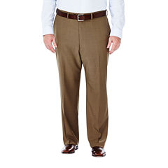 Haggar® eCLo™ Stria Classic-Fit Flat-Front Dress Pants - Big & Tall