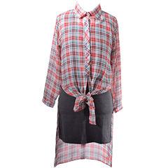 Bonnie Jean Sleeveless Shirt Dress - Big Kid Girls