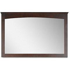 American Imaginations 48-in. W X 31.5-in. H ModernPlywood-Veneer Wood Mirror In Walnut