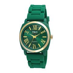 TKO ORLOGI Milano III Womens Green Silicone Strap Watch