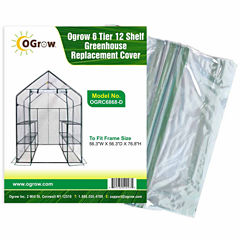 6 Tier 12 Shelf Greenhouse Replacement Cover