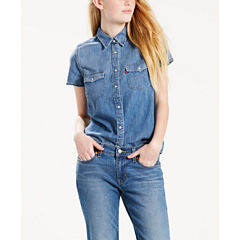 Levi's Modern Fit Short Sleeve Button-Front Shirt