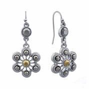 Liz Claiborne® Marcasite Double Drop Earrings
