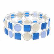 Liz Claiborne® Blue Acrylic Stretch Bracelet