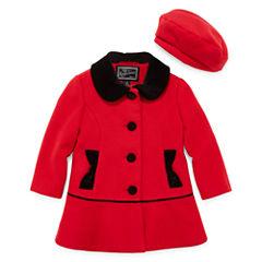 Rothschild Velvet-Trim Coat - Preschool Girls 4-6x