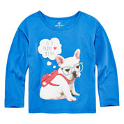 Okie Dokie® Long-Sleeve Dolman Graphic Tee - Toddler Girls 2t-5t