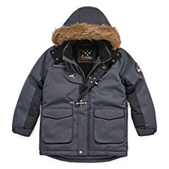 Big Chill Fur-Trim Hooded Jacket - Boys 8-18