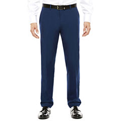 JF J. Ferrar® Blue Stretch Flat-Front Suit Pants - Super Slim-Fit