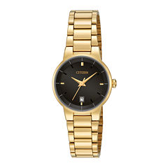 Citizen® Womens Gold-Tone Stainless Steel Bracelet Watch EU6012-58E