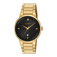 gold watches for men jcpenney citizen® mens gold tone stainless steel watch bi5012 53e