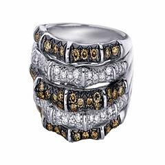 Levian Corp Le Vian Womens 1 1/4 CT. T.W. White Diamond 14K Gold Cocktail Ring
