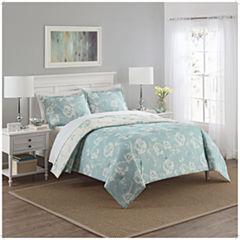 Marble Hill Bonita 3-pc. Floral Midweight Reversible Comforter Set