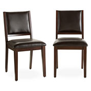 Dining Possibilities Set of 2 Standard-Height Side Chairs