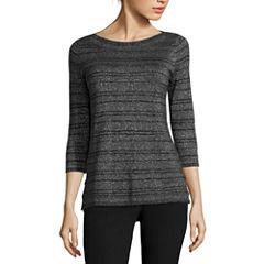 Worthington® 3/4-Sleeve Boatneck Pullover Sweater - Tall