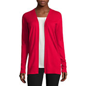 Long-Sleeve Open-Front Cardigan - Tall