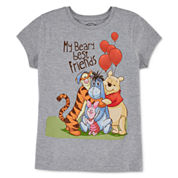 Disney Collection Short-Sleeve Pooh Hug Graphic Tee - Girls