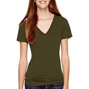 Arizona Short-Sleeve Solid V-Neck T-Shirt