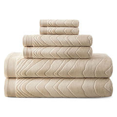 Liz Claiborne® Sculpted 6-pc. Cotton Bath Towel Set