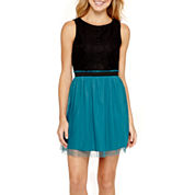 Speechless® Sleeveless Ruffle-Waist Dress