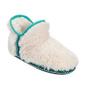 Dearfoams® Fairisle-Trim Pile Bootie Slippers