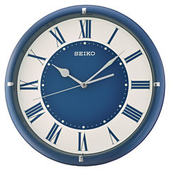 Seiko Blue White Wall Clock-Qxa669llh