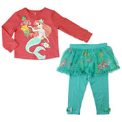 Disney Ariel Girls Skirt Set NB-24M