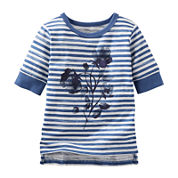OshKosh B'gosh® Floral Striped Tee - Baby Girls 3m-24m