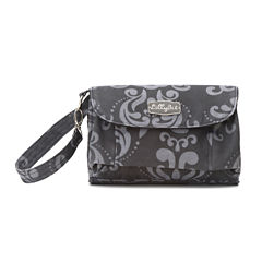 LillyBit Gray Damask Clutch Diaper Bag