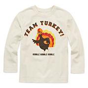 Okie Dokie® Long-Sleeve Thanksgiving Tee - Toddler Boys 2t-5t