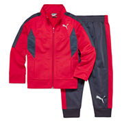 Puma® 2-pc. Colorblock Tricot Track Suit - Preschool Boys 4-7