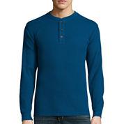 St. John's Bay® Long-Sleeve Thermal Henley Shirt