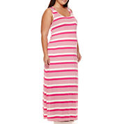 Maternity Sleeveless Knit Maxi Dress - Plus