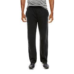 Open-Bottom Cotton Fleece Pants