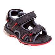 Rugged Bear Boys River Sandals - Little Kids