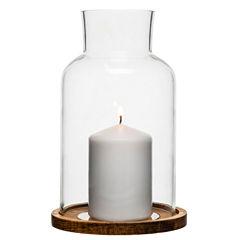 Sagaform Oval Oak 2-pc. Candle Holder