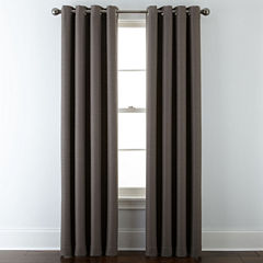JCPenney Home™ Quinn Basketweave Grommet-Top Curtain Panel