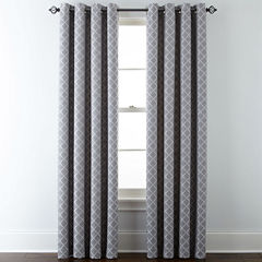 JCPenney Home™ Quinn Lattice Grommet-Top Curtain Panel
