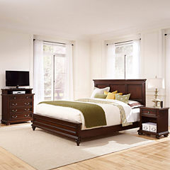 Roanoke Bed, Nightstand and Media Chest