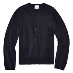 IZOD® Long-Sleeve Cable Pocket Cardigan - Girls 7-16 and Plus