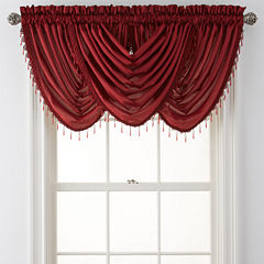 Royal Velvet® Plaza Thermal Interlined Rod-Pocket Waterfall Valance