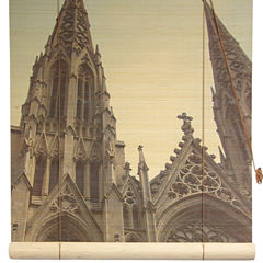Oriental Furniture St. Patrick's Cathedral BambooRoller Shade