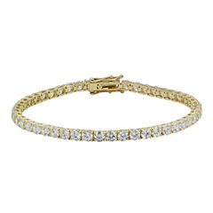 Diamonart® 10K Yellow Gold CZ Tennis Bracelet