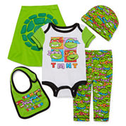 Nickelodeon™ Ninja Turtles 5-pc. Bodysuit and Pants Set - Baby Boys newborn-6m