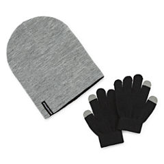 Weatherproof Slouch Beanie & Gloves Set - Boys 8-20
