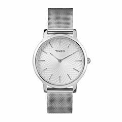 Timex Metropolitan Skyline Womens Silver Tone Bracelet Watch-Tw2r36200jt